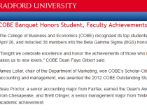 COBE Banquet Honors Student, Faculty Achievements