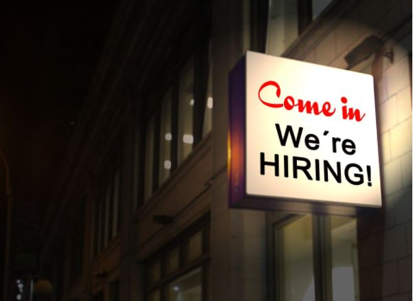 were hiring sign